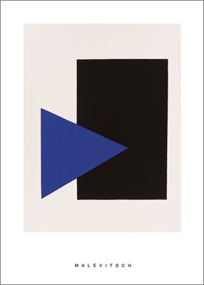 Black Rectangle, Blue Triangle, 1915 by Malevich - 28 X 40