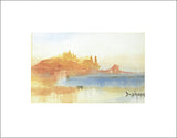 "Landscape by Joseph Turner - 16 X 20"" (Watercolour / Aquarelle)"