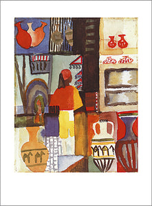 "Dealer with Jugs, 1914 by August Macke - 24 X 32""(Watercolour/Aquarelle)"