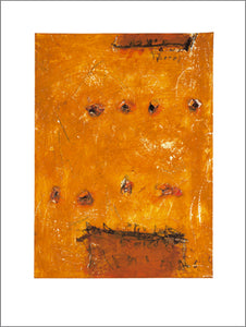 Untitled (Yellow) by Plato E. Papastamos - 24 X 32 Inches - (Watercolour)