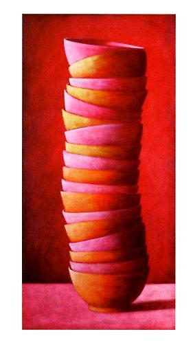 Cups II, 2002 by Andreas Scholz - 20 X 40 Inches - Fine Art Poster.