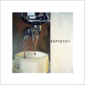 Expresso by Frank Damm - 27 X 27 Inches - (Watercolour / Aquarelle)