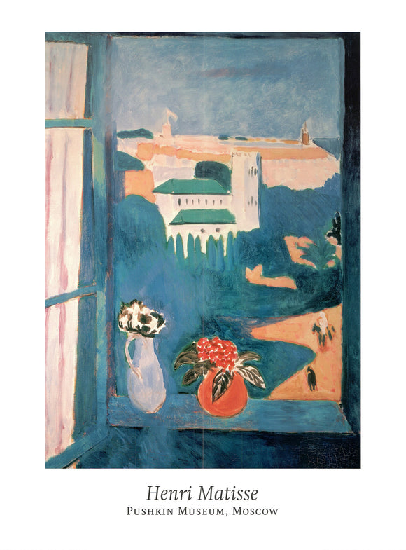 Window at Tangiers by Henri Matisse - 24 X 32 Inches - Fine Art Poster.