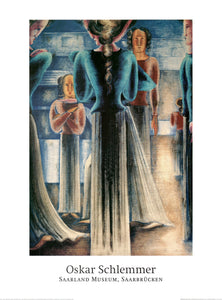 Blue Women, 1929 by Oskar Schlemmer - 24 X 32 Inches - Fine Art Poster.