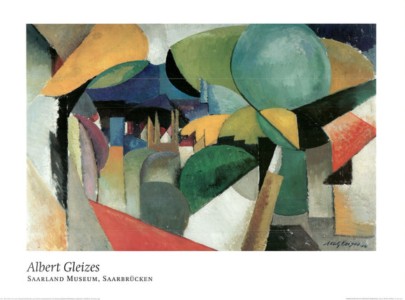 Landscape near Montreuil, 1914 by Albert Gleizes - 24 X 32 Inches - Fine Art Poster.