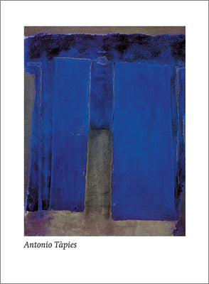 Composition Ultramarine, 1959 by Antonio Tapies - 24 X 32 Inches - Fine Art Poster.