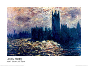 Londres, Le Parlement - Reflet sur la Tamise, 1899-1901 by Claude Monet - 24 X 32 Inches - Fine Art Poster.