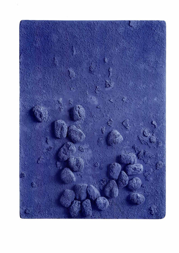 Blue Sponge Relief, 1958 by Yves Klein - 24 X 32 Inches - Fine Art Poster.