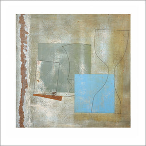 Green Goblet and Blue Square, June, 1961 by Ben Nicholson - 27 X 27 Inches - Fine Art Poster.