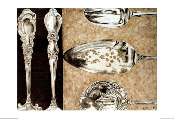 Silver Plate II, 2003 by Elaine Clarfield-Gitalis - 28 X 40 Inches - Fine Art Poster.