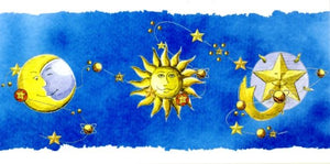 Sun, Moon & Stars by PanoraMAC - 4 X 8 Inches (Greeting Card)