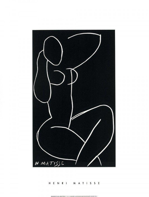 Nu Assis, Jambe Croisées II, 1941-42 by Henri Matisse - 24 X 32