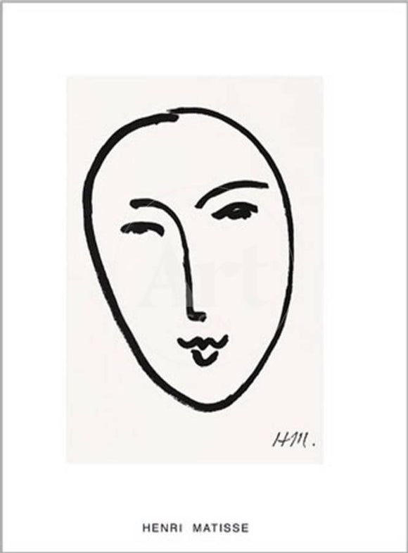Masque, 1952 by Henri Matisse - 20 X 28