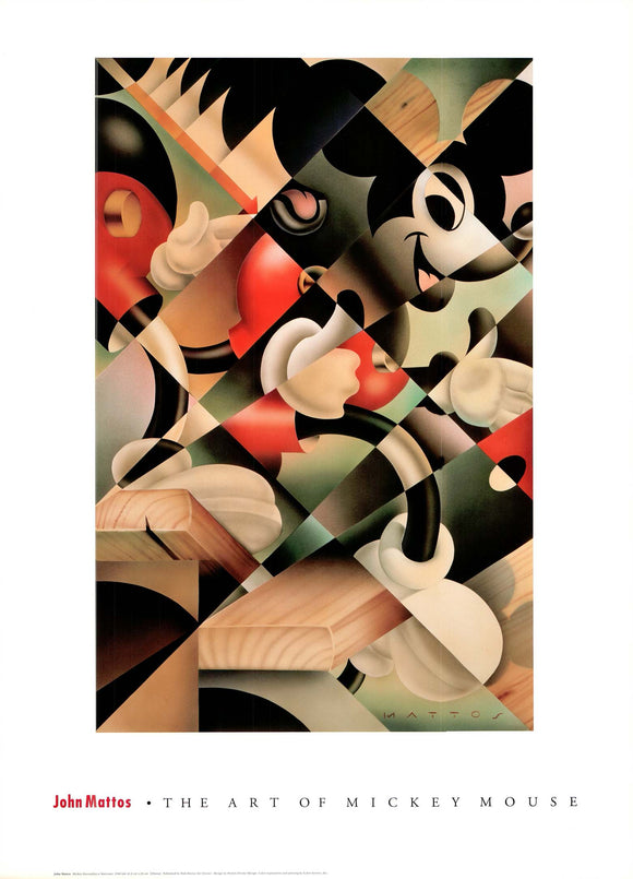 Mickey Descending a Staircase, 1988 by John Mattos - 24 X 30 Inches (Poster)