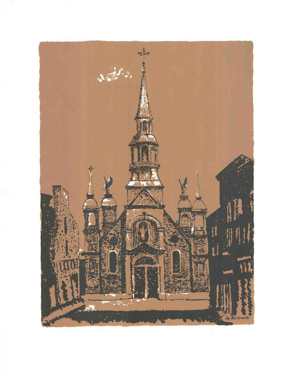 Bonsecours Church - Montreal - (Silkscreen / Serigraph)