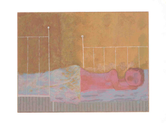 Figure on a Bed - (Silkscreen / Serigraph)