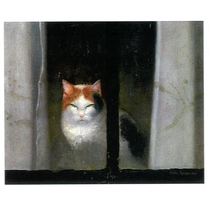 Poes, 2007 by Martin Sijbesma - 6 X 6 Inches (Greeting Card)