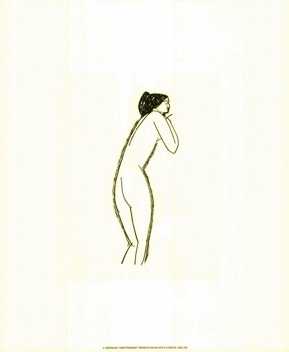 Female Nude by Amedeo Modigliani - 20 X 24