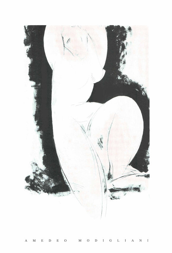 Cariatide by Modigliani - 28 X 40 Inches - (Silkscreen / Sérigraphie)