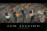 Jam Session by Marcus Uzilevsky  - 24 X 36 Inches - Fine Art Poster.