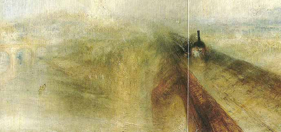 Rain, Steam and Speed - The Great Western Railway, 1844 by Joseph Turner - 5 X 10