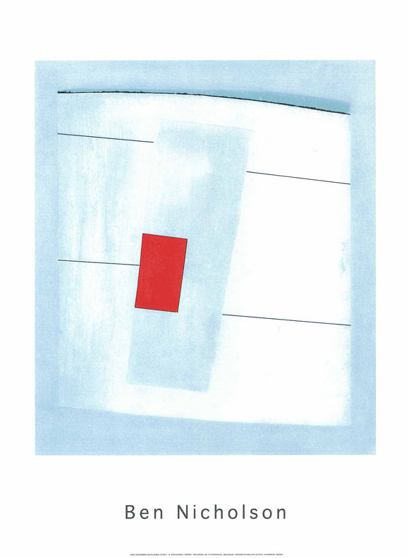 Cyclades, 1959 by Ben Nicholson - 24 X 32 Inches - (Silkscreen / Sérigraphie)