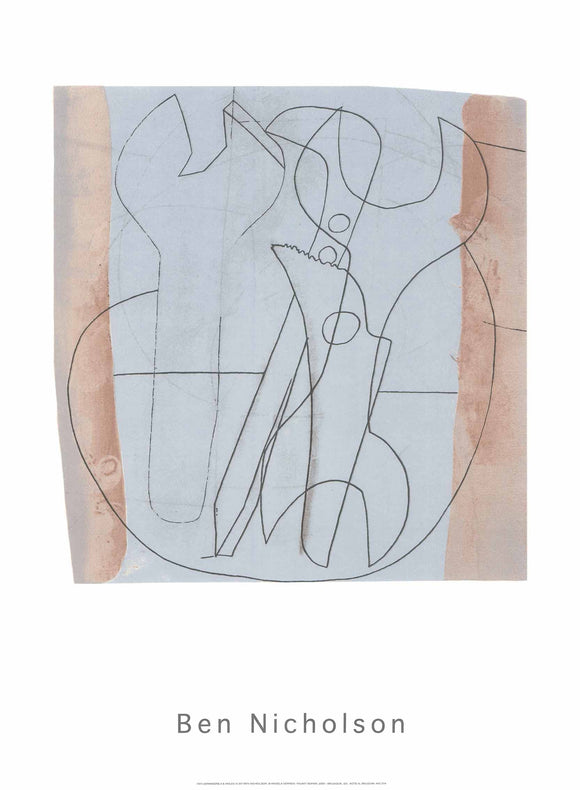 Spanners 3 & Holes 4, 1973 by Ben Nicholson - 24 X 32 Inches - (Silkscreen / Sérigraphie)