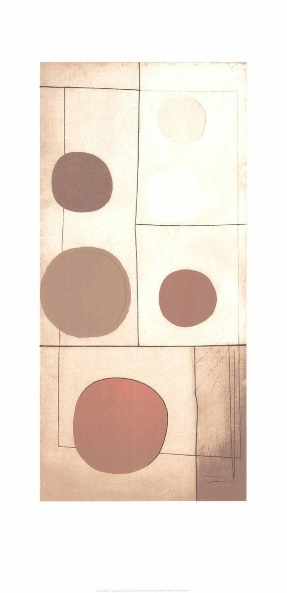 Six Circles, 1933 by Ben Nicholson - 20 X 40 Inches - (Silkscreen / Sérigraphie)