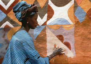 "A Woman in West Africa by Margaret Courtney-Clarcke - 20 X 28"" - Fine Art Poster."