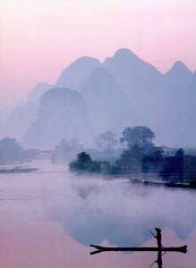 "On the Li River, Guilin, China - 20 X 28"" - Fine Art Poster."