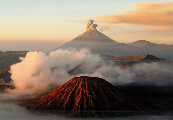 Mount Bromo Volcano, Java, Indonesia by Bruno Morandi - 20 X 28