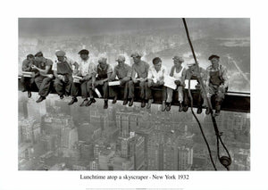 "Lunchtime Atop a Skyscrapper NYC, 1932 - 20 X 28"" - Fine Art Poster."