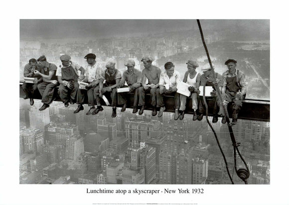 Lunchtime Atop a Skyscraper NYC, 1932 - 20 X 28