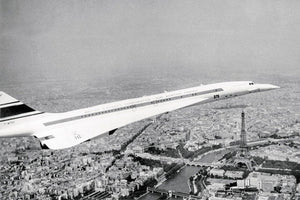 "The Concorde flying over Paris, 12 June 1969 by Keystone - 20 X 28"" - Fine Art Poster."