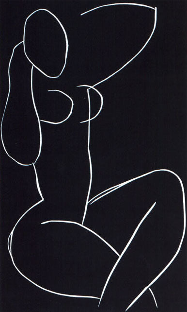 Seated Nude, with Legs Crossed, 1941-42 (Linogravure) by Henri Matisse (Silkscreen / Sérigraphie)