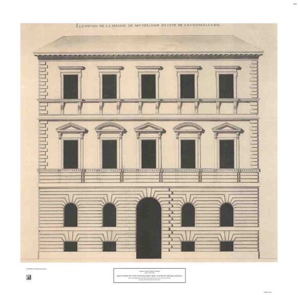 Elevation on the Chancellery Side, House of Michelangelo