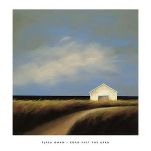 "Road Past the Barn by Tjasa Owen - 24 X 24"" - Fine Art Poster."