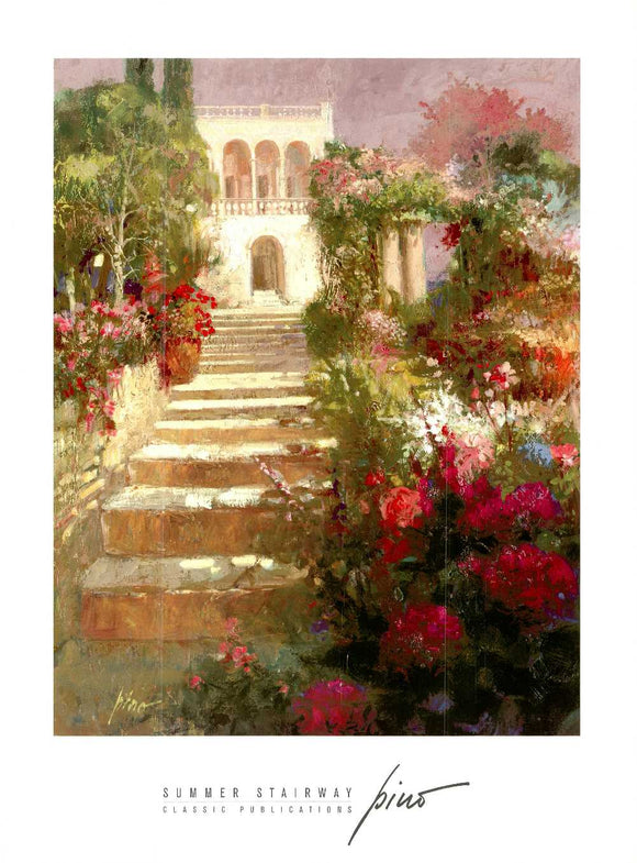 Summer Stairway by Pino - 27 X 36