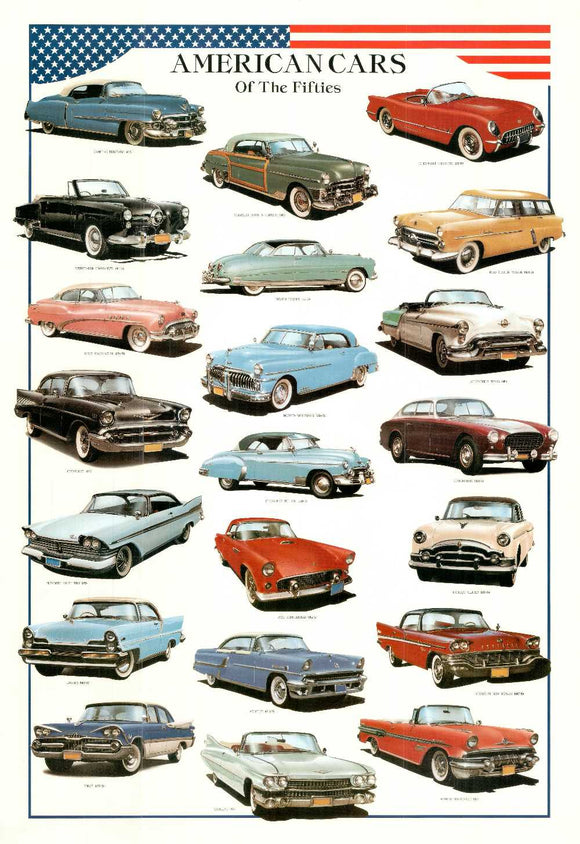 American Cars of the Fifities by Libero Patrignani - 27 X 39