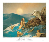 "Dragon Fly by Michael Parkes - 28 X 32"" - Fine Art Poster."