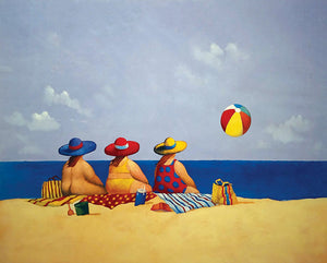 Three Ladies Sunning by Michael Paraskevas - 8 X 10 Inches (Poster)