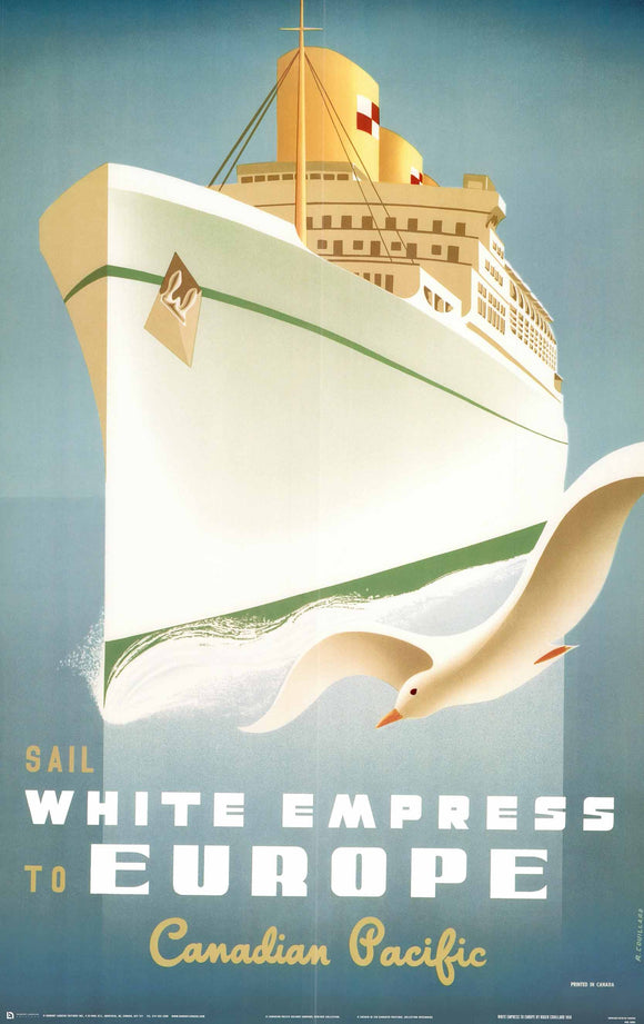 White Empress to Europe, 1950 by Roger Couillard - 24 X 36