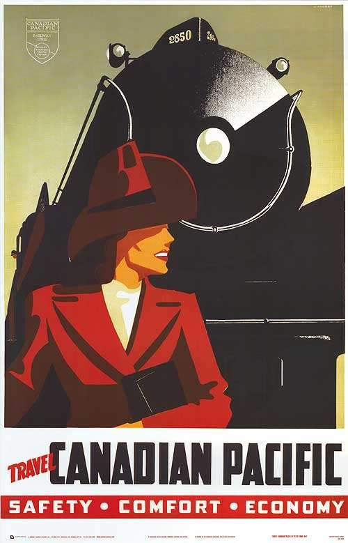 CP Railroad Travel by Canadian Pacific - 24 X 36