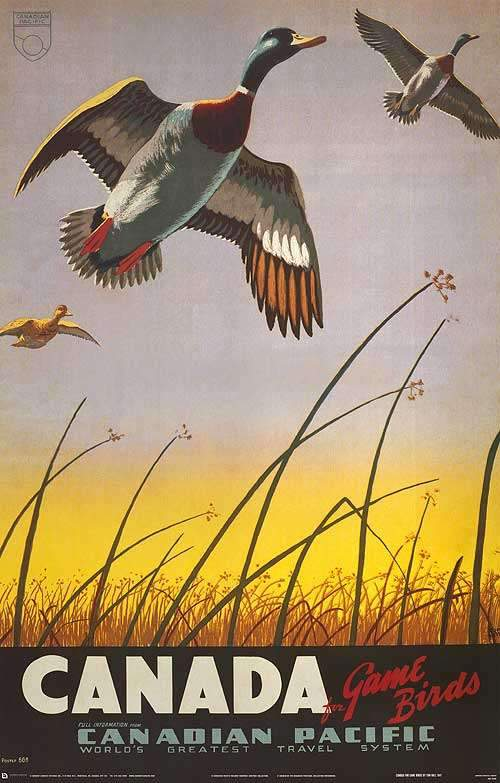 Canada for Game Birds by Canadian Pacific - 24 X 36