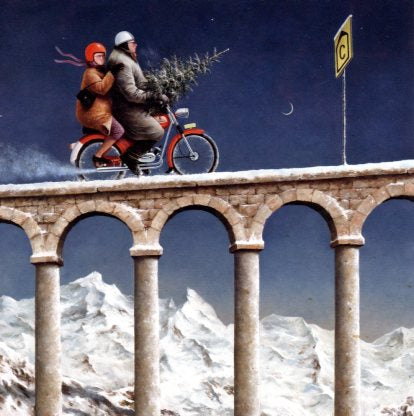Diversion, 2004 by Marius van Dokkum - 6 X 6 Inches (Greeting Card)