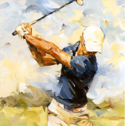 Golf Swing, 2013 by Dorus Brekelmans - 6 X 6 Inches (Greeting Card)