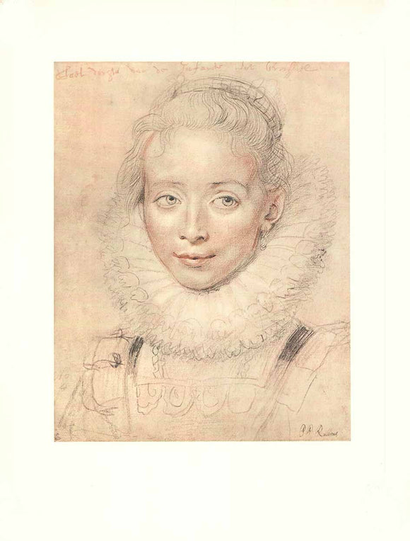 Infanta Isabella by Peter Paul Rubens - 14 X 18