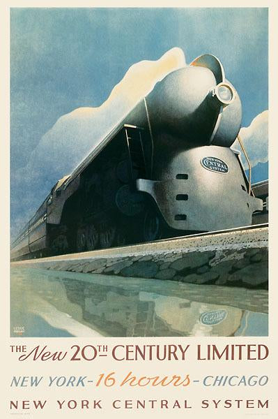 20th Century Limited by Leslie Ragan - 24 X 36 Inches (Vintage Poster)