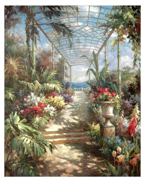Tropical Breezeway by James Reed - 26 X 32
