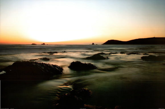 Rory Gullan - Sunset Ocean - 24 X 36 Inches - Fine Art Poster.